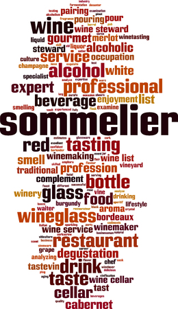Sommelier cloud concept. Collage made of words about sommelier. Vector illustration