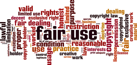 Fair use word cloud concept. Collage made of words about fair use. Vector illustration
