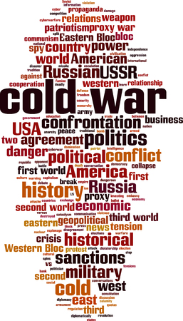 Cold war word cloud concept. Collage made of words about cold war. Vector illustration