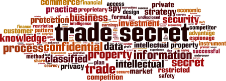Trade secret word cloud concept. Collage made of words about trade secret. Vector illustration Vecteurs