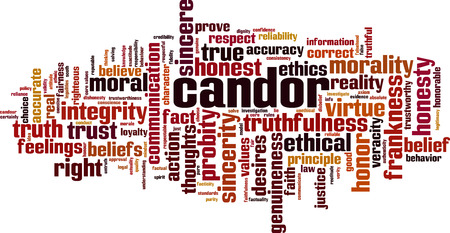 Candor word cloud concept. Collage made of words about candor. Vector illustration