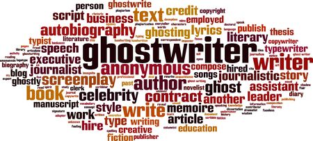 Ghostwriter word cloud concept. Collage made of words about ghostwriter. Vector illustration