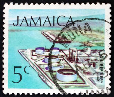JAMAICA - CIRCA 1972: a stamp printed in Jamaica shows Oil refinery, technology, circa 1994
