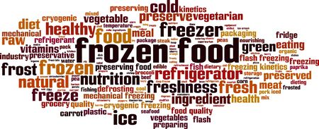Frozen food word cloud concept. Collage made of words about frozen food. Vector illustration