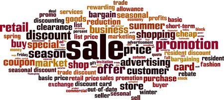 Sale word cloud concept. Collage made of words about sale. Vector illustration   イラスト・ベクター素材