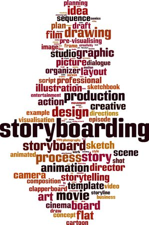 Storyboarding cloud concept. Collage made of words about storyboarding. Vector illustration