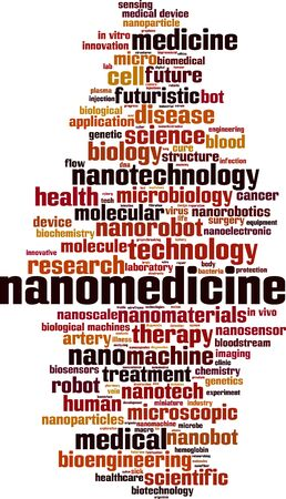 Nanomedicine word cloud concept. Collage made of words about nanomedicine. Vector illustration Illustration
