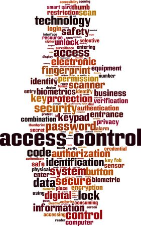 Access control word cloud concept. Collage made of words about access control. Vector illustration Ilustração