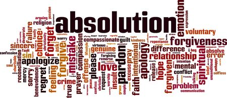 Absolution word cloud concept. Collage made of words about absolution. Vector illustration