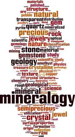 Mineralogy word cloud concept. Collage made of words about mineralogy. Vector illustration