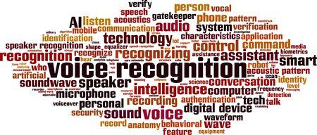 Spracherkennung Wort Cloud-Konzept. Collage aus Wörtern über Spracherkennung. Vektor-Illustration