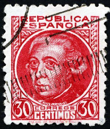 SPAIN - CIRCA 1935: a stamp printed in Spain shows Gaspar Melchor de Jovellanos, Statesman, Author, Philosopher, circa 1935 Redakční