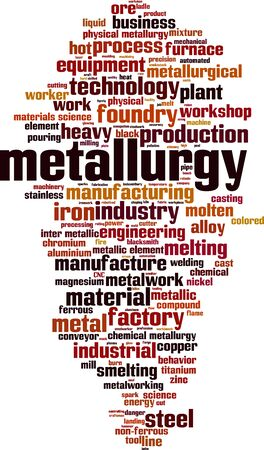 Metallurgy word cloud concept. Collage made of words about metallurgy. Vector illustration
