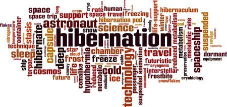 Hibernation word cloud concept. Collage made of words about hibernation. Vector illustration Illusztráció