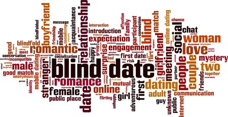 Blind date word cloud concept. Collage made of words about blind date. Vector illustration  Illusztráció