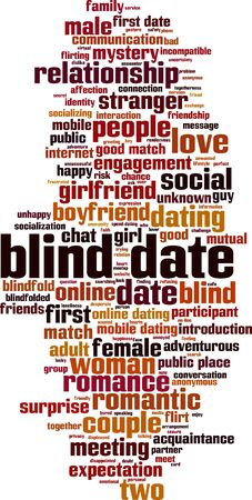 Blind date word cloud concept. Collage made of words about blind date. Vector illustration