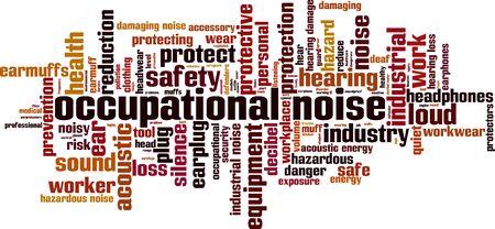 Occupational noise word cloud concept. Collage made of words about occupational noise. Vector illustration Foto de archivo - 135569910