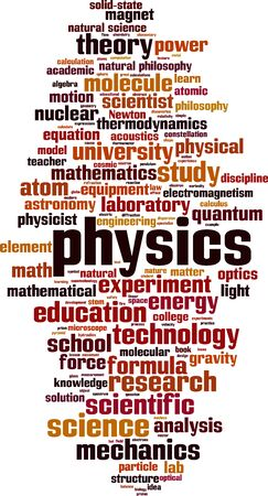 Physics word cloud concept. Collage made of words about physics. Vector illustration