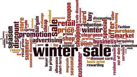 Winter sale word cloud concept. Collage made of words about winter sale. Vector illustration 矢量图像