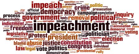 Impeachment cloud concept. Collage made of words about impeachment. Vector illustration
