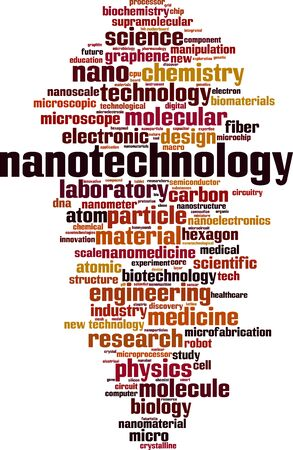 Nanotechnology word cloud concept. Collage made of words about nanotechnology. Vector illustration 版權商用圖片 - 139360434