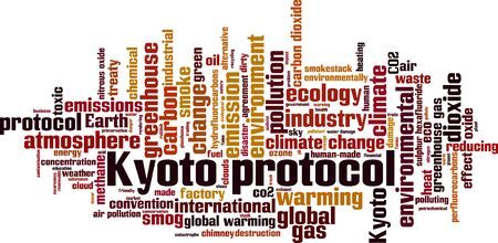 Kyoto protocol word cloud concept. Collage made of words about Kyoto protocol. Vector illustration