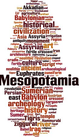 Mesopotamia word cloud concept. Collage made of words about Mesopotamia. Vector illustration