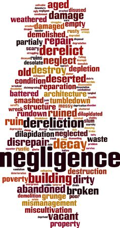 Negligence word cloud concept. Collage made of words about negligence. Vector illustration