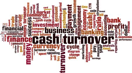 Cash turnover word cloud concept. Collage made of words about cash turnover. Vector illustration