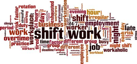 Shift work word cloud 일러스트