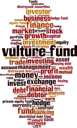 Vulture fund word cloud concept. Collage made of words about vulture fund. 일러스트