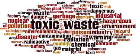 Toxic waste word cloud concept. Collage made of words about toxic waste. Vector illustration