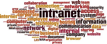 Intranet word cloud concept. Collage made of words about intranet. Vector illustration