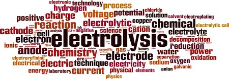 Electrolysis word cloud concept. Collage made of words about electrolysis. Vector illustration