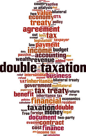 Double taxation word cloud concept. Collage made of words about double taxation. Vector illustration