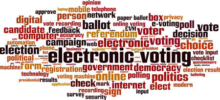 Electronic voting word cloud concept. Collage made of words about electronic voting. Vector illustration