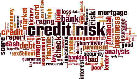 Credit risk word cloud concept. Collage made of words about credit risk. Vector illustration