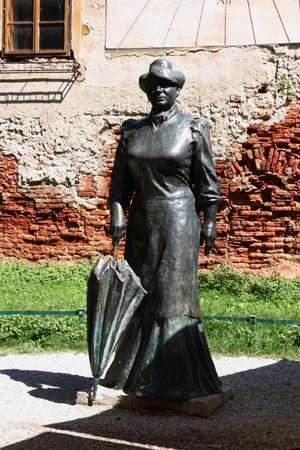 ZAGREB, CROATIA - JULY 28, 2020: Statue of famous croatian writer Marija Juric Zagorka, placed in Tkalciceva street, Zagreb, Croatia Editorial