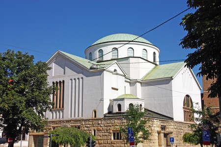 ZAGREB, CROATIA - JULY 28, 2020: View of Church of St. Blaise, Zagreb, Croatia
