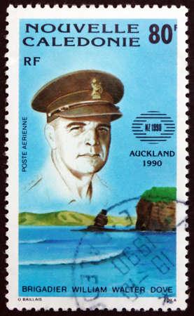 NEW CALEDONIA - CIRCA 1990: a stamp printed in New Caledonia shows Brigadier William Walter Dove, circa 1990