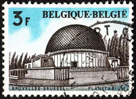 BELGIUM - CIRCA 1974: a stamp printed in Belgium shows the planetarium of the Royal Observatory of Belgium, Brussels, circa 1974