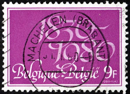 BELGIUM - CIRCA 1980: a stamp printed in Belgium dedicated to 150th anniversary of the independence, circa 1980