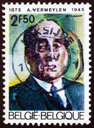 BELGIUM - CIRCA 1972: a stamp printed in Belgium shows Auguste Vermeylen (1872-1945), Belgian writer, educator, circa 1972