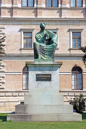 Statue of Bishop Strossmayer by Ivan Mestrovic, Located in Park behind Croatian Academy of Sciences and Arts, Zagreb, Croatia Editorial