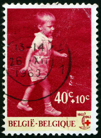 BELGIUM - CIRCA 1963: a stamp printed in Belgium shows Prince Philippe, circa 1963 新闻类图片