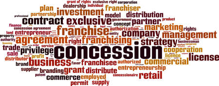 Concession word cloud concept. Collage made of words about concession. Vector illustration