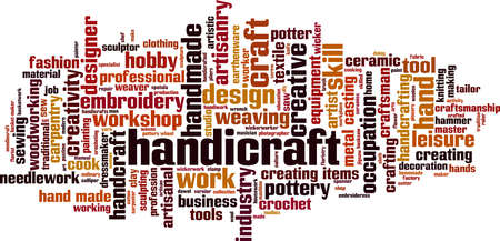 Handicraft word cloud concept. Collage made of words about handicraft. Vector illustration Vector Illustratie