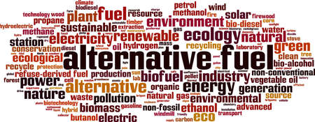 Alternative fuel word cloud concept. Collage made of words about alternative fuel. Vector illustration