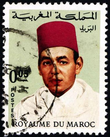 MOROCCO - CIRCA 1968: a stamp printed in Morocco shows Hassan II, King of Morocco, circa 1968