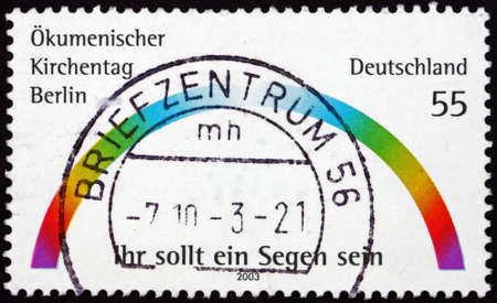 GERMANY - CIRCA 2003: a stamp printed in Germany dedicated to Ecumenical Church Conference, Berlin, circa 2003